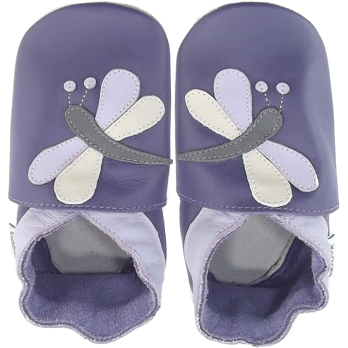 Bobux Dragonfly Baby Crawling Shoes purple
