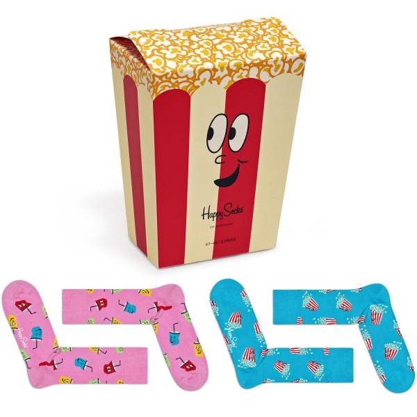 Happy Socks Snacks Gift Box 2-Pack Unisex Geschenk-Socken mehrfarbig