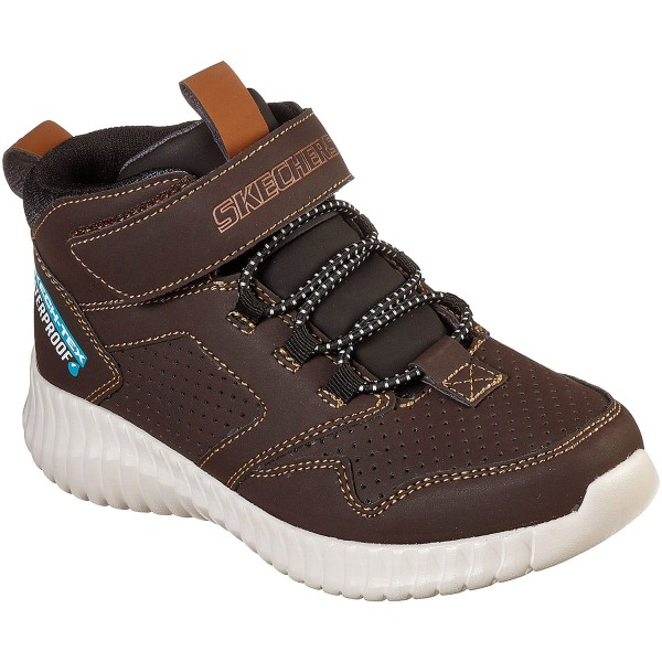 Skechers Elite Flex Hydrox Jungen Waterproof Sneaker dunkelbraun (chocolate)