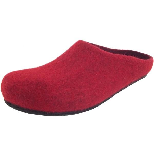 Stegmann Magicfelt 709 Damen Wollfilz-Pantoffel rot (rubin)