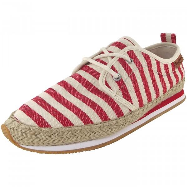 Pepe Jeans Babel W Stripes Damen Halbschuhe rot/beige (salsa)