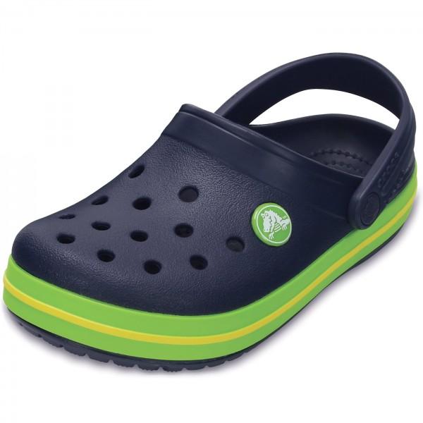 komplettes Angebot an Artikeln schnüren in Großhandelspreis 2019 Crocs Crocband Kids Child Clogs navy/volt green