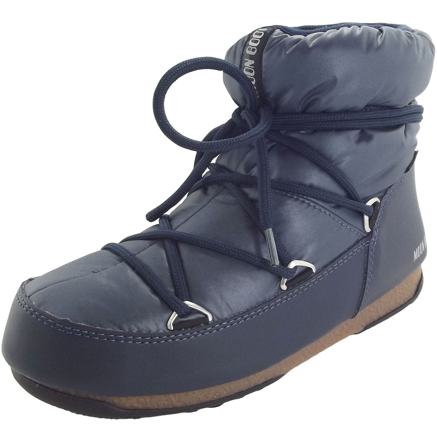 factory price cheap for sale exclusive deals Moon Boot Low Nylon WP Women Winter Ankle Boots denim blue