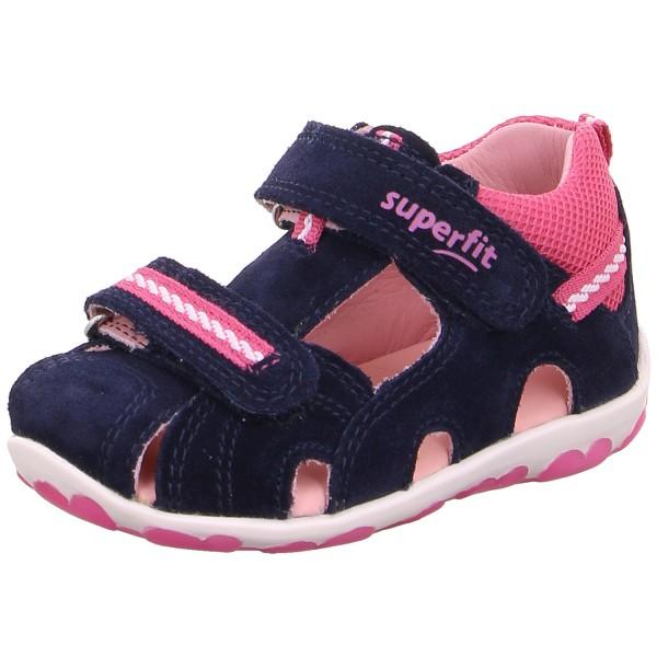Superfit Fanni Mädchen Sandale dunkelblau/rosa