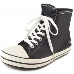 Viking Regn Damen Gummistiefel-Sneaker schwarz/weiß (black/white)