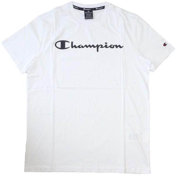 Champion Crewneck T-Shirt Mn Herren Baumwolle-Shirt weiß (wht)