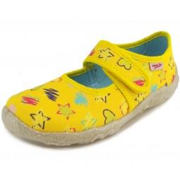 Superfit Bonny Mädchen Hausschuhe gelb (custard multi)