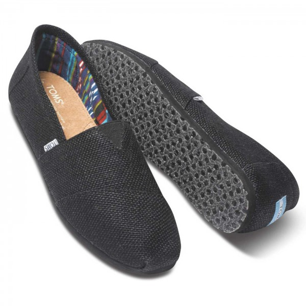 toms classic burlap mn herren espadrilles schwarz black toms marken flux online. Black Bedroom Furniture Sets. Home Design Ideas