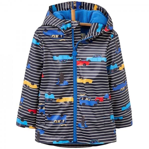 Joules Skipper Waterproof Jungen Regenmantel navy stripe cars