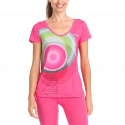 Desigual Rosa Damen Sport T-Shirt pink (fuchsia rose)