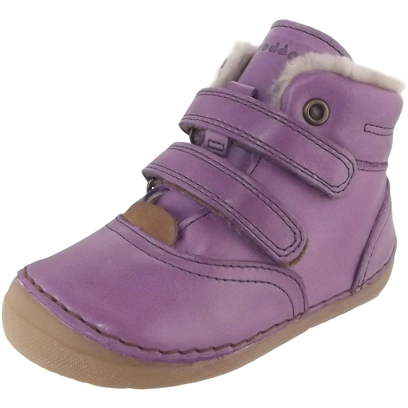 new concept efb40 c66be Froddo G2110058 Sheepskin Girl First Walker Boots purple