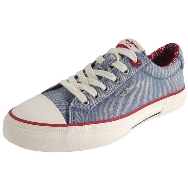 Pepe Jeans Kenton Denim Damen Sneaker Hellblau (Denim)