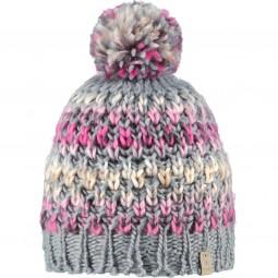 Barts Nicole Beanie Damen Unisex Wintermütze grau/rosa (heather grey)