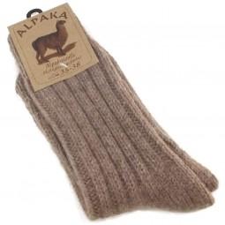 Fellhof Alpaka Unisex Socken Dick braun