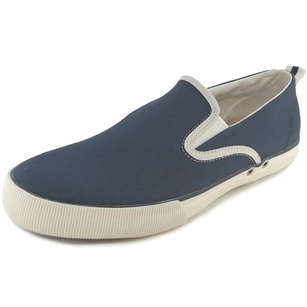 Sperry Cadet Canvas Herren Slip-On Sneaker dunkelblau/weiß (navy)