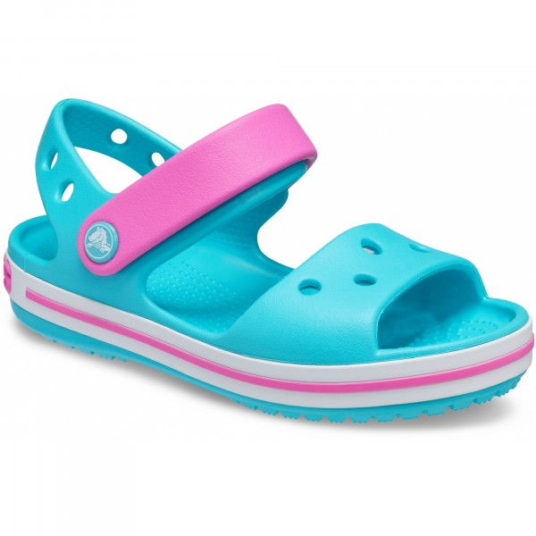 Crocs Crocband Sandal Kids Mädchen Aqua-Sandale Türkis (Digital Aqua)