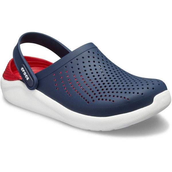 Crocs Literide Unisex Soft Clogs dunkelblau/rot (navy/pepper)