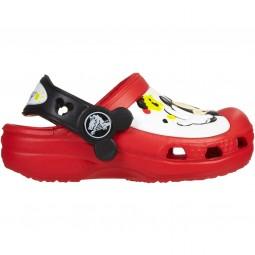 Crocs Mickey Paint Splatter Clog Kinder Clogs red
