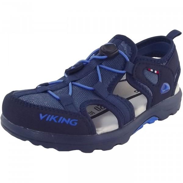Viking Sandvika Kinder Trekkingsandale  blau (navy/royal blue)