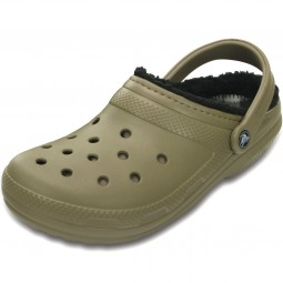 Crocs Classic Lined Pattern Unisex Clogs khaki/black