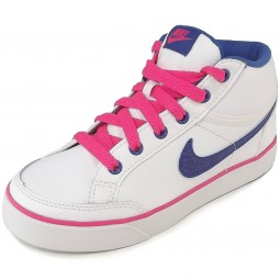 Nike Capri 3 Mid Leather Girl Sneakers white/cobalt/pink