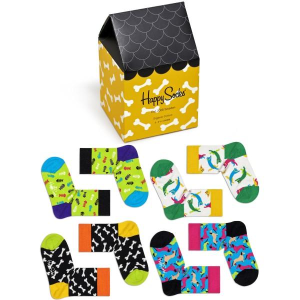 Happy Socks Kids Cats & Dogs Gift Box 4-Pack Kleinkinder Geschenk-Socken mehrfarbig