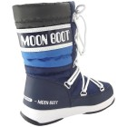 Moon Boot WE Quilted Jr WP Kinder Winterstiefel navy/royal/silber 2