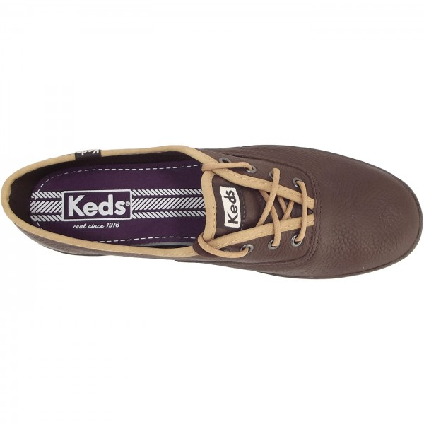 keds leather brown