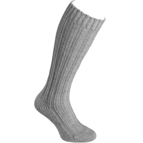 Fellhof Alpaka Stutzen Dick Unisex Woll-Socken grau