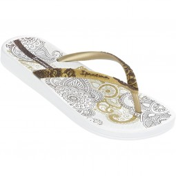 Ipanema Lovely V Fem Damen Zehenstegsandale weiß/gold (white/gold)