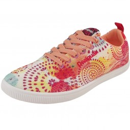 Desigual Fun Eva Painter Galactic Damen Woven Sneakers orange (living coral)