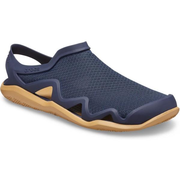 Crocs Swiftwater Mesh Sandal Unisex Aqua-Schuhe dunkelblau (navy/tan)