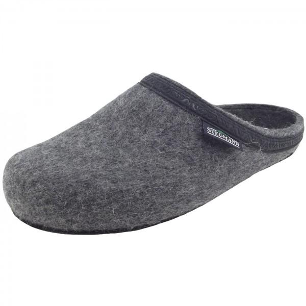 Stegmann 127 Unisex Wollfilz-Pantoffeln grau (grey)