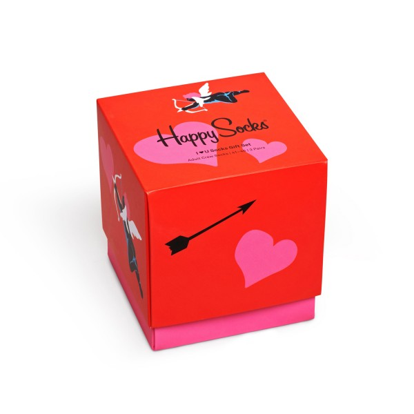 Happy Socks I Love You Socks Gift Set 3-Pack Unisex Geschenk-Socken Mehrfarbig