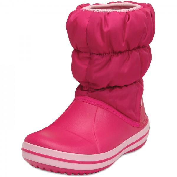 crocs Winter Puff Boot Kids, Unisex - Kinder Schneestiefel, Blau (Navy/Red), 25/26 EU