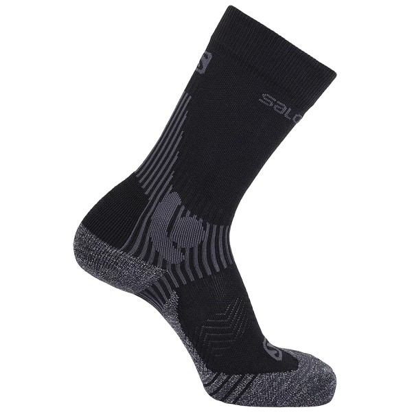 Salomon X Alp Mid Unisex Bergsteiger Socken Black/Forged Iron