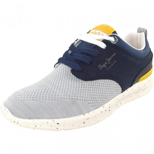 be92eb4fa1ea50 Pepe Jeans Jayden Knit Junior Kinder Sneakers dunkelblau grau (naval blue)