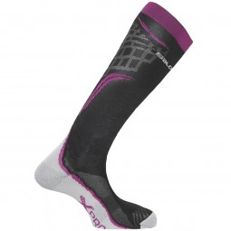 Salomon X Pro Damen Skisocken wild berry/black/white