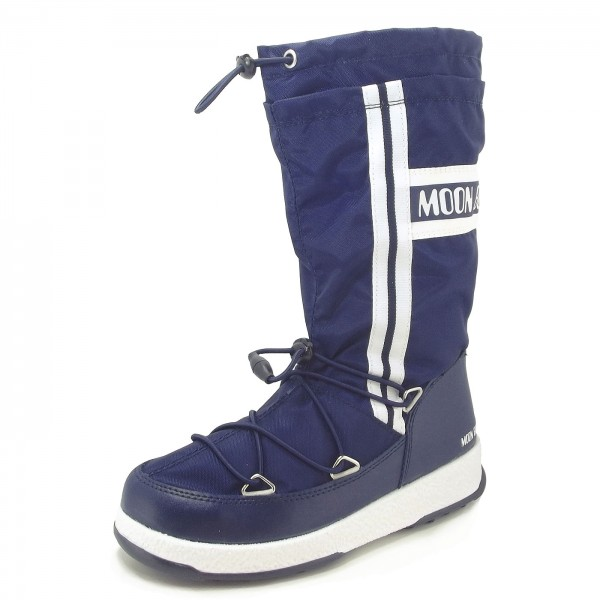 9e84b2c11 Moon Boot by Tecnica W.Fall Jr WP Child Winter Boots navy blue