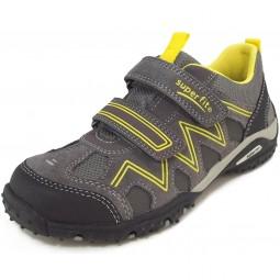 Superfit Sport4 Kinder Sneaker grau/gelb (stone multi)