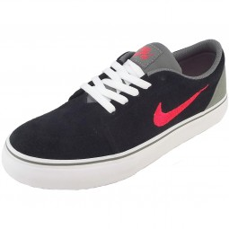 Nike Satire GS Kinder Skate-Sneaker schwarz/grau/rot (black/lsrcrm)