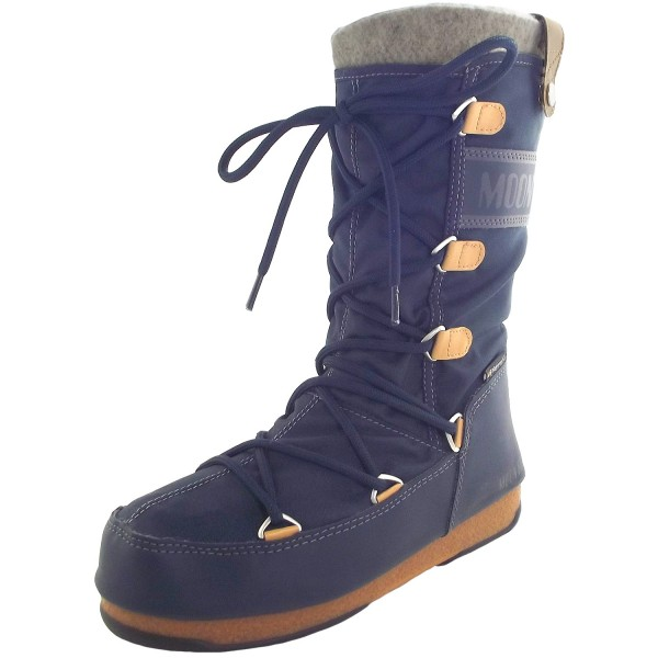 613bf6e38d Moon Boot Monaco Felt Women Winter Boots denim blue | Winter Boots ...
