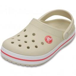Crocs Crocband Kids Mädchen Clogs beige/rot (stucco/melon)