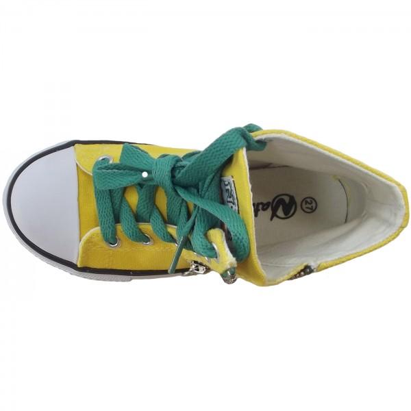 Naturino 2540 Canvas Sneaker gelb (giallo) 3