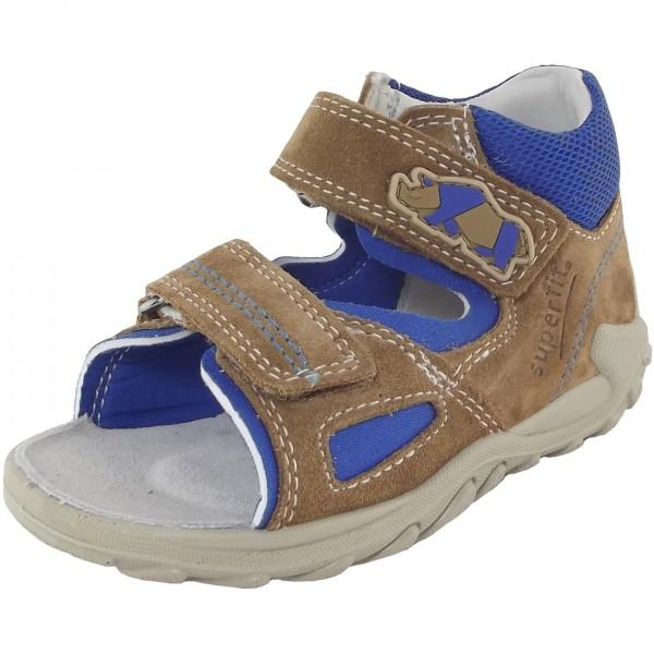 Superfit Flow Kleinkinder Sandale beige/blau (beige kombi)