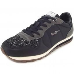 Pepe Jeans Verona Volcan Damen Sneaker schwarz (black)