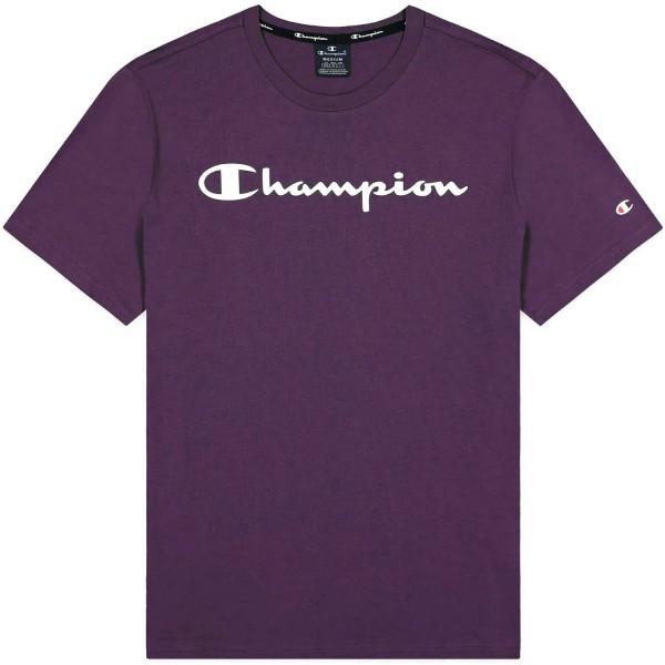 Champion Crewneck T-Shirt Mn Herren Baumwolle-Shirt Violett (PPE)