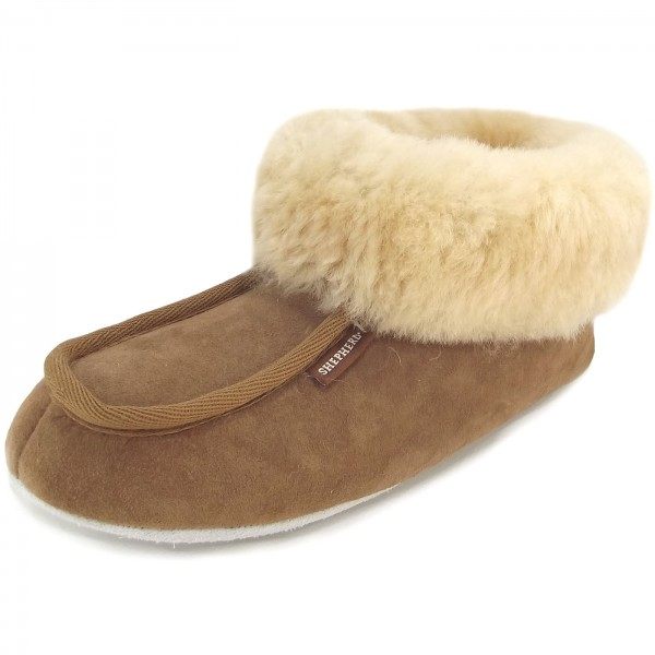 Shepherd Moa Stone, Schuhe, Sandalen & Hausschuhe, Lammfell-Hausschuhe , Braun, Unisex, 30