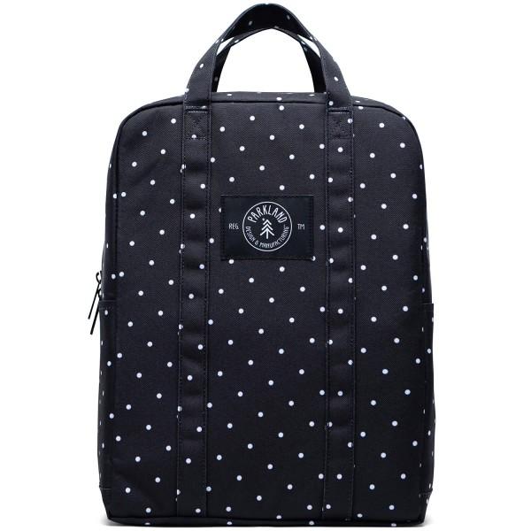 Parkland Remy Damen Rucksacktasche schwarz/weiß (polka dots)