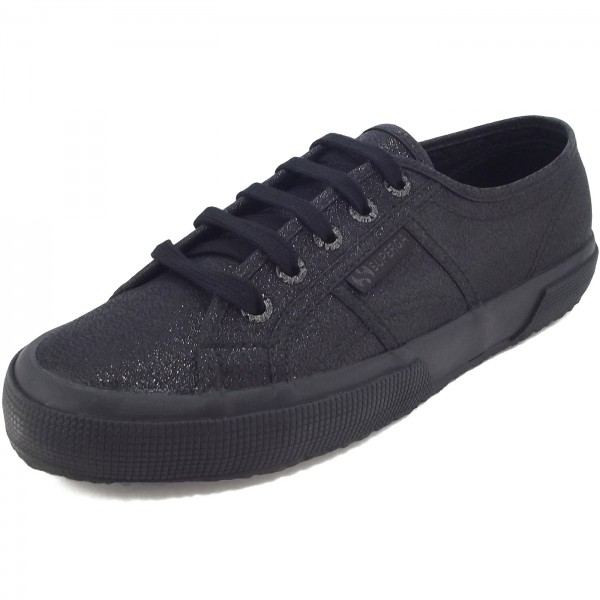 Superga 2750 Lamew Classic Damen Sneaker total schwarz (total black)